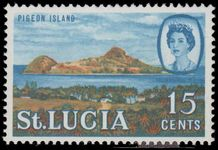 St Lucia 1968 15c wmk 12 sideways unmounted mint.