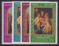 St Lucia 1969 Christmas. Paintings unmounted mint.