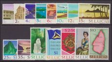 St Lucia 1970-73 set unmounted mint.