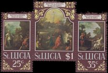 St Lucia 1970 Easter. Triptych by Hogarth unmounted mint (folded).