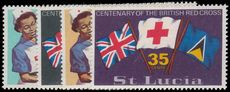 St Lucia 1970 Centenary of British Red Cross unmounted mint.