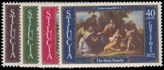 St Lucia 1972 Christmas unmounted mint.