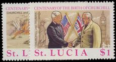 St Lucia 1974 Birth Centenary of Sir Winston Churchill unmounted mint.