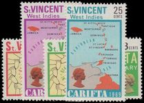 St Vincent 1969 First Anniv of CARIFTA unmounted mint.