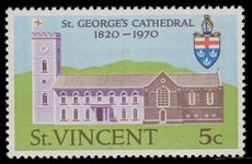 St Vincent 1970 5c St. George's Cathedral Crown to right unmounted mint.