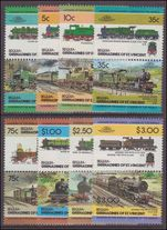 Bequia 1984 Trains (1st series) unmounted mint.
