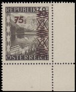 Austria 1947 surcharge on 75g rare Stone-green shade unmounted mint.