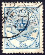 Denmark 1864-70 2sk blue perf 13x12½ very fine used.
