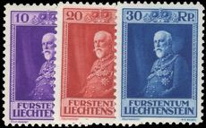 Liechtenstein 1933 80th Birthday set fine and fresh lightly mounted mint.