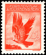 Liechtenstein 1934-36 15rp Golden Eagle fine unmounted mint.
