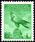 Liechtenstein 1934-36 50rp Golden Eagle fine unmounted mint.