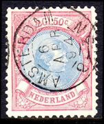 Netherlands 1893-98 2g50 ultramarine and rose-carmine perf11½ fine used.