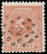 Netherlands 1872-91 15c orange-brown perf 12½x12 fine used.