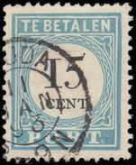 Netherlands Postage Due 1881-94 15c perf 13 type III fine used.