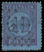 Netherlands Postage Due 1870 10c perf 13 fine used.