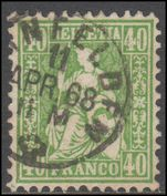 Switzerland 1862-64 40c green fine used.