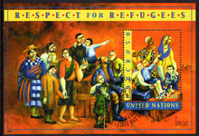 New York 2000 High Commissioner for Refugees souvenir sheet fine used.