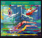 Vienna 1996 Sports and the Environment souvenir sheet fine used.