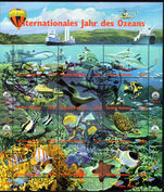 Vienna 1998 International Year of the Ocean souvenir sheet fine used.