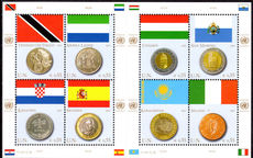 Vienna 2007 Coins and Flags (2nd series) souvenir sheet unmounted mint.