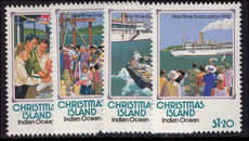 Christmas Island 1992 Partial Evacuation unmounted mint.