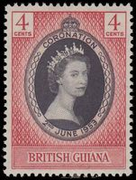 British Guiana 1953 Coronation fine mint lightly hinged.
