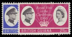 British Guiana 1966 Royal Visit unmounted mint.