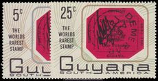 Guyana 1967 World's Rarest Stamp Commemoration unmounted mint.