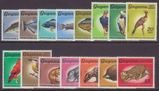 Guyana 1968 flora and fauna set no watermark unmounted mint.
