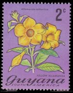 Guyana 1971-76 2c Yellow Allamanda unmounted mint.