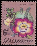 Guyana 1971-76 2c Cannon-ball tree unmounted mint.