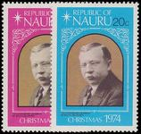 Nauru 1974 Christmas and 75th Anniv of Rev. Delaporte's Arrival mounted mint.