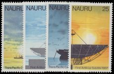 Nauru 1977 75th Anniv of First Trans-Pacific Cable and 20th Anniv of First Artificial Earth Satellite unmounted mint.