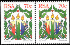 South Africa 1996 Christmas booklet pair unmounted mint.