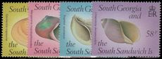 South Georgia 1988 Sea Shells unmounted mint.