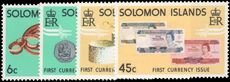 British Solomon Islands 1977 Coins and Banknotes unmounted mint.