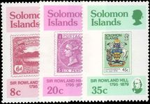 Solomon Islands 1979 Rowland Hill unmounted mint.