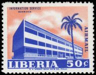 Liberia 1962 50c Information Building unmounted mint.