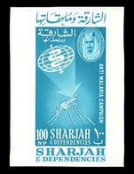Sharjah 1963 Malaria Eradication souvenir sheet unmounted mint.