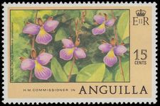Anguilla 1977-78 15c Orchid unmounted mint.