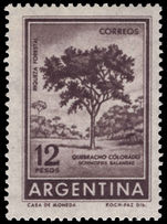 Argentina 1961-69 12p Red Querbracho unmounted mint.