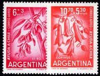 Argentina 1960 Chilean Eathquake Relief unmounted mint.