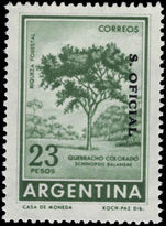 Argentina 1961-69 23p Red Querbracho official unmounted mint.