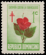 Dominican Republic 1966 Tuberculosis Fund. Hibiscus unmounted mint.