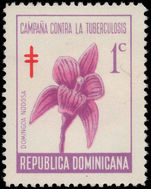 Dominican Republic 1967 Tuberculosis Fund. Orchid unmounted mint.