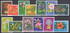 Sierra Leone 1963 Flowers unmounted mint.