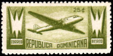 Dominican Republic 1943 25c Mail Plane unmounted mint.