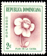 Dominican Republic 1957 2c Mahogany Flower lightly mounted mint.