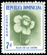 Dominican Republic 1957 7c Mahogany Flower unmounted mint.