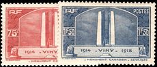 France 1936 Vimy Memorial unmounted mint.